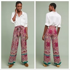 Anthropologie printed trousers